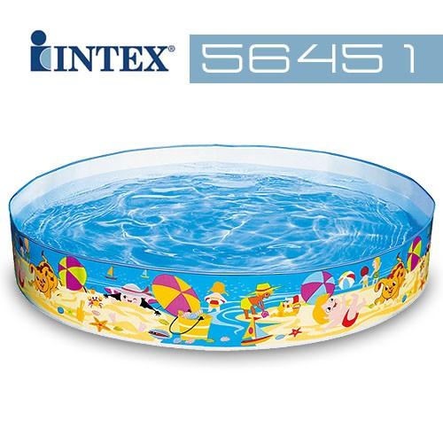 ~美國INTEX ~海洋圖案免充氣泳池152x25cm 戲水池游泳池(56451 )~~H