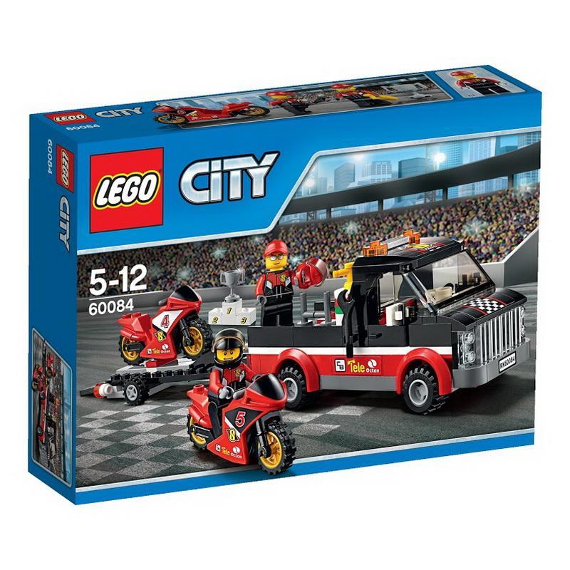 好好玩樂高LEGO 60084 樂高積木CITY 城市系列競賽自行車運輸車摩托車