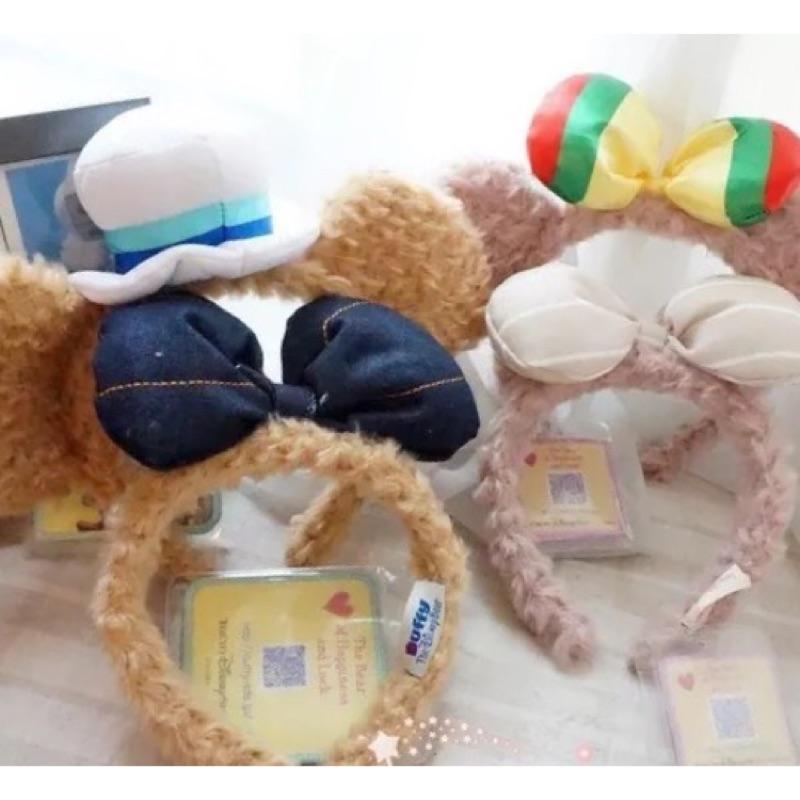 迪士尼DUFFY 達菲熊SHELLIEMAY 立體蝴蝶結帽子毛絨頭箍髮箍