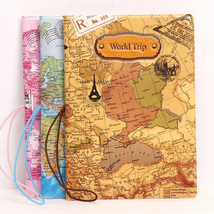 世界地圖立體護照夾 護照套身份證件套護照包出國旅遊