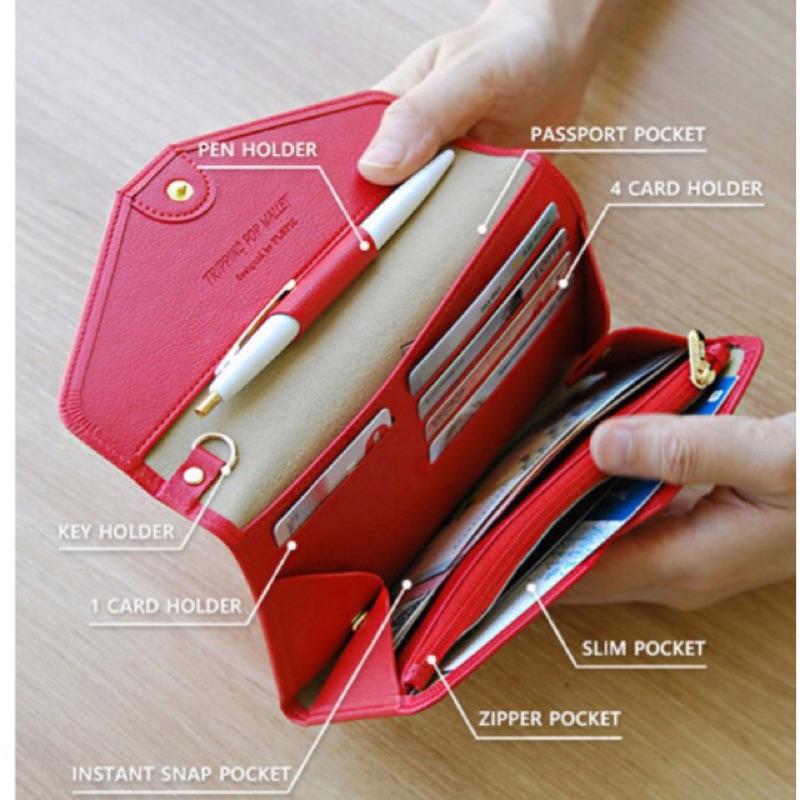 Jh Shop 歡慶 降價  多 長版優雅氣質大容量皮質護照包錢包皮包手機包證件包