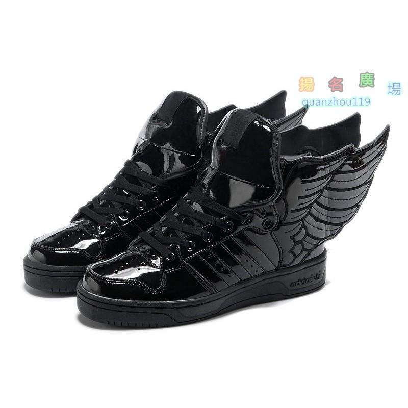 ADIDAS ORIGINALS OBYO X JS WINGS 2 0 黑色漆皮翅膀情侶