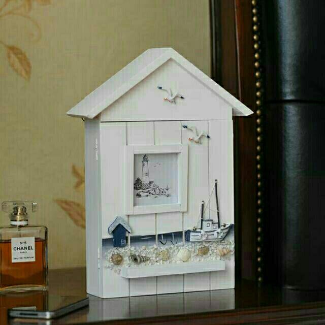 地中海鑰匙盒收納盒壁掛裝飾 客廳裝飾房屋 鑰匙掛勾帆船系列貝殼系列可掛