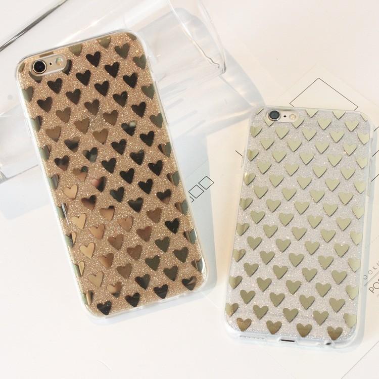 韓國心型電鍍閃粉軟TPU 保護殼iPhone6s Plus i6s i6 iPhone 6