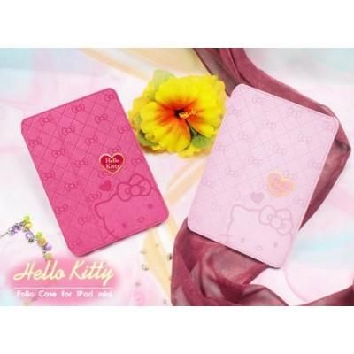貨GARMMA Hello Kitty iPad Mini1 代摺疊式皮套保護套凱蒂貓平板