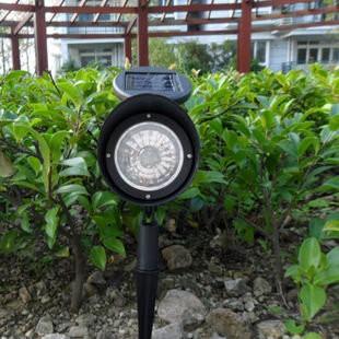 太陽能燈射燈3LED 燈花園燈草坪燈太陽能投射燈白光A004