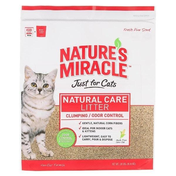美國8in1 ~自然奇蹟寵物酵素環保玉米貓砂10 磅4 53kg 天然環保對貓咪非常安全