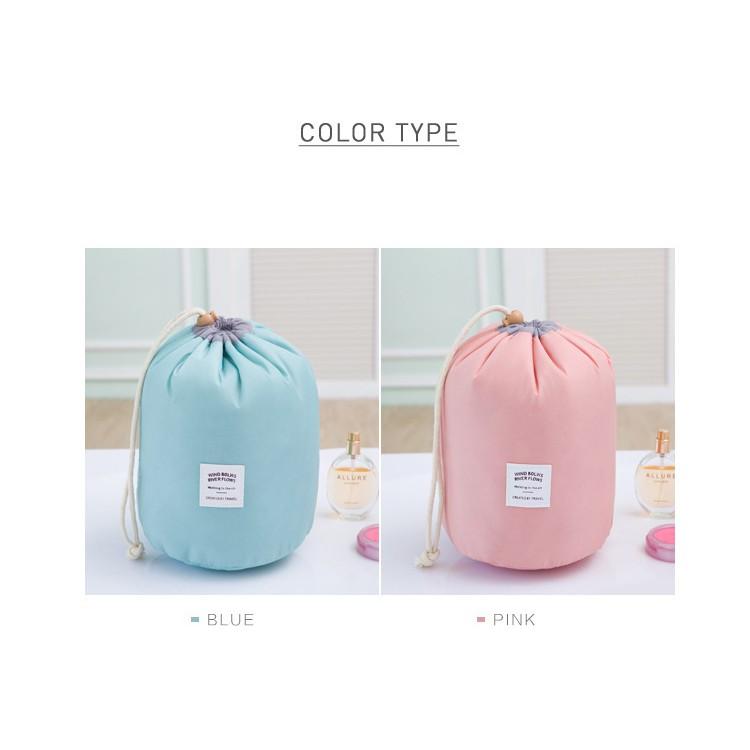 韓國旅行大容量化妝包旅遊套裝洗漱包戶外防水收納包圓筒洗漱包