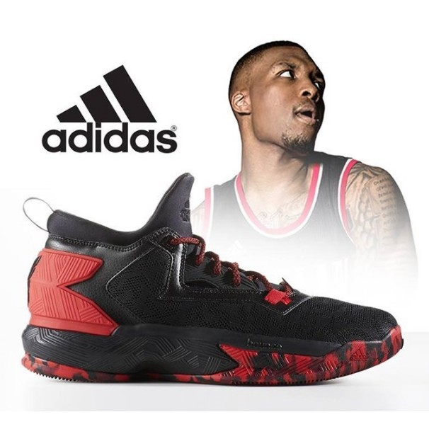 Adidas 愛迪達D LILLARD 2 0 籃球 鞋黑紅配色正 男款B42387
