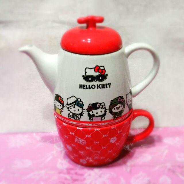 Hello Kitty 下午茶杯壺組(附濾心)