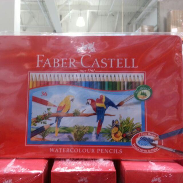 Costco 好市多德國Faber 輝柏水溶性彩色鉛筆精緻鐵盒36 色入