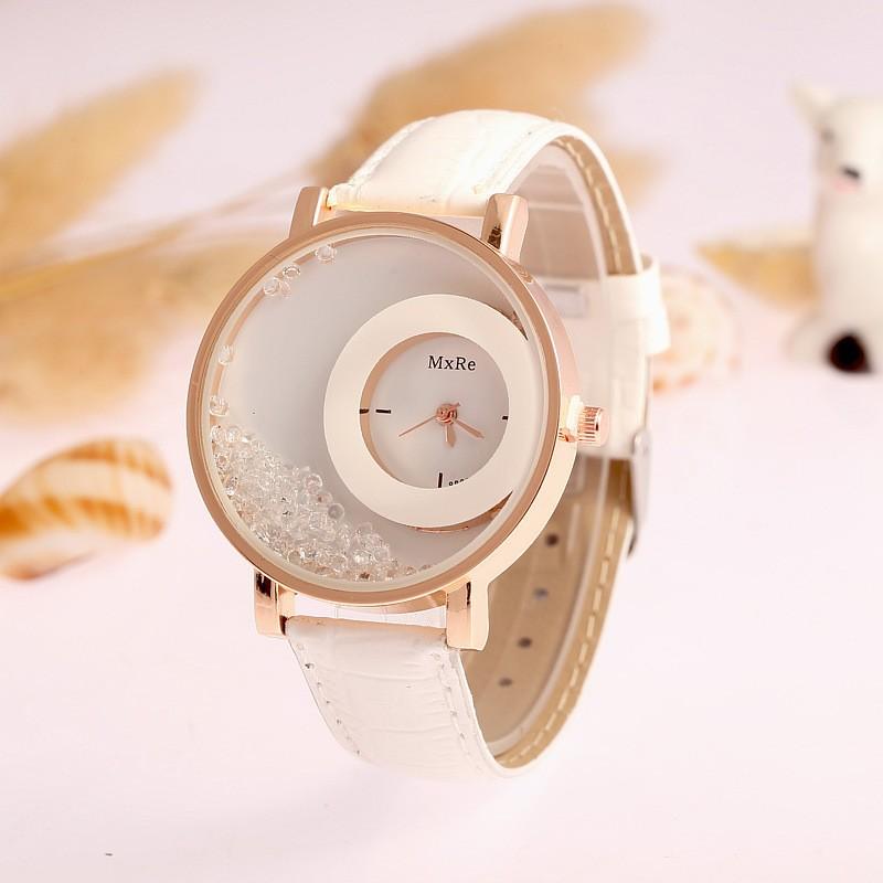 ~ 學生手表情侶手表~速賣通爆款品牌  石英表滿鉆流沙女款手表女士腕表