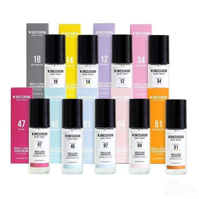 無外盒韓國W DRESSROOM 崔范錫 師品牌香水噴霧70ml 居家衣物香氛噴霧消除臭味