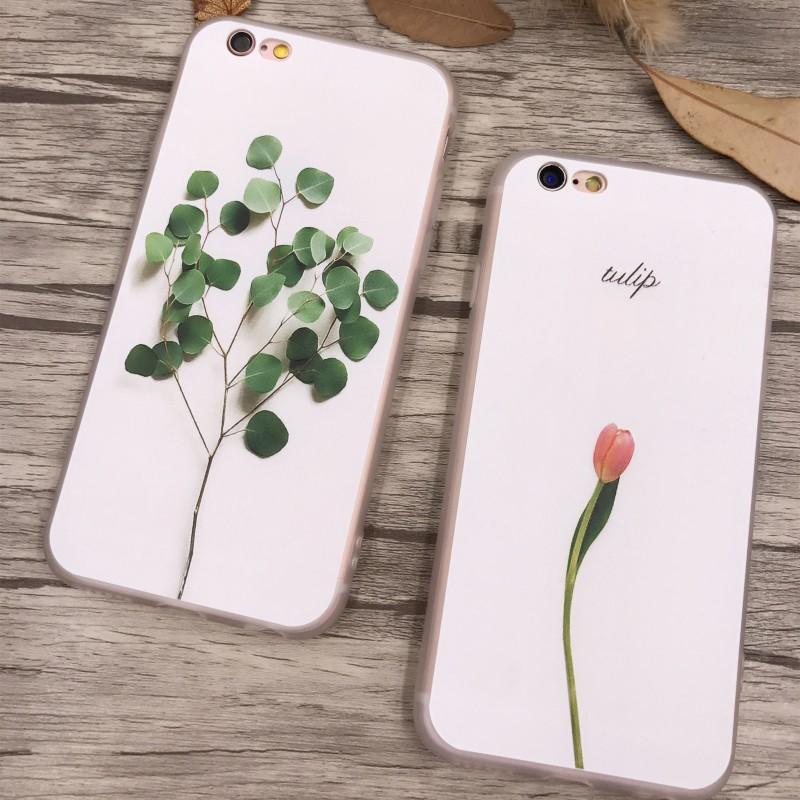 文藝女iPhone7 手機殼矽膠蘋果6splus 浮雕全包韓國6 簡約防摔5s
