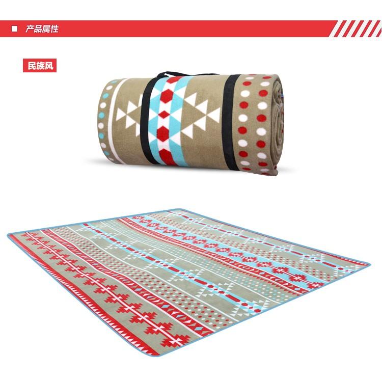 民族風300 ×300 野餐墊地墊防水墊加大加厚附收納袋