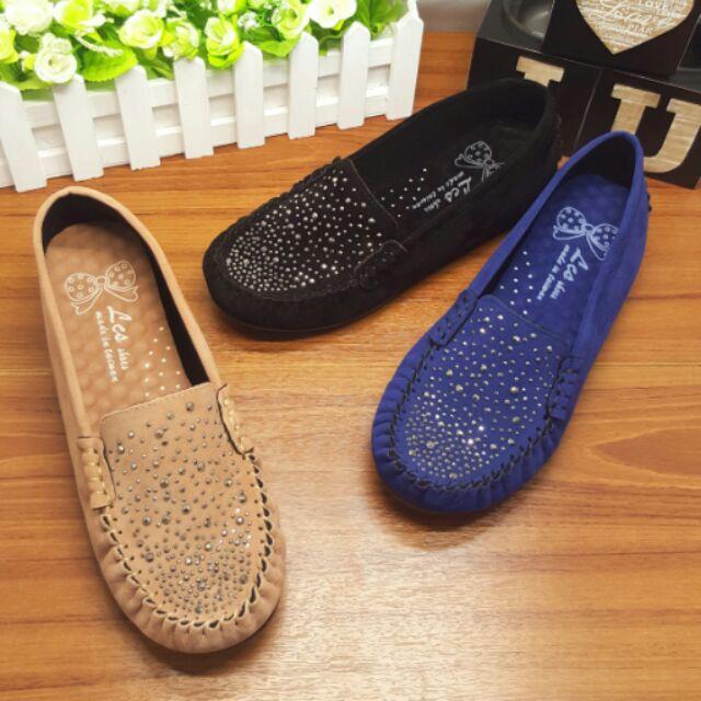 超級好穿 製絨質內增高超軟墊休閒鞋豆豆鞋懶人鞋( 當日出)
