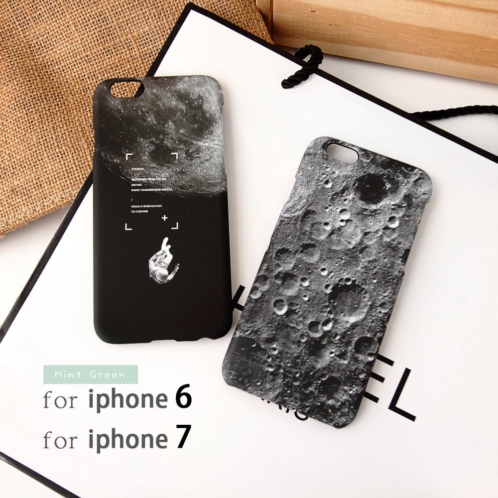 ❤️i5 i6s i7 宇航員月球隕石霧面磨砂手機殼iphone6 6S plus ~悠選