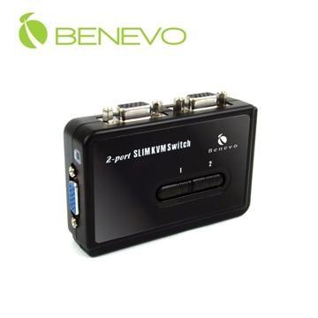 BENEVO BKVM102UA UltraKVM 桌上型2 埠USB VGA KVM 多