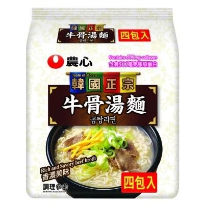 韓國 農心牛骨湯麵4 入 169 元