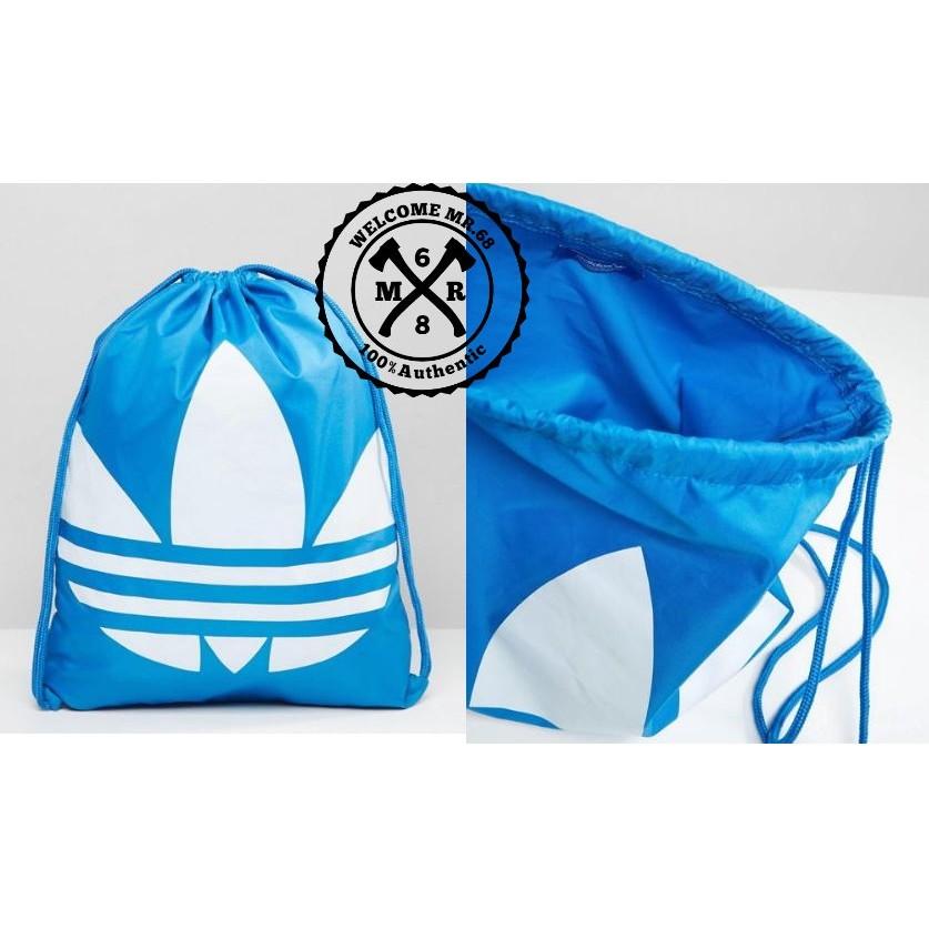 ~MR 68  ~Adidas Drawstring Backpack 藍色白色大Logo