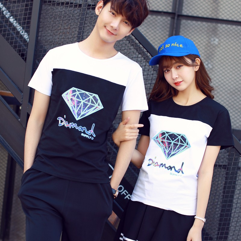 ღ韓依舍❤고급 官網 ღ韓系鑽石 情侶裝T 恤