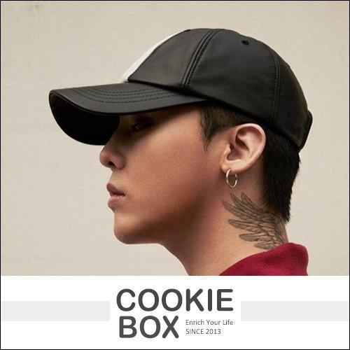 韓國8SECONDS X G DRAGON 聯名中央白線皮革帽bigbang 權志龍GD