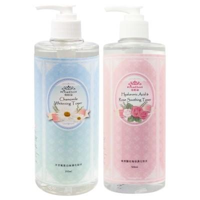 KilaDoll 奇拉朵洋甘菊美白保濕化妝水玻尿酸玫瑰保濕化妝水500ml 可濕敷