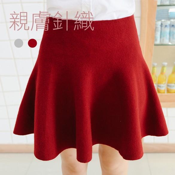 老闆不賣了新 感極佳針織高腰大擺短裙魚尾裙百褶裙荷葉裙A 字裙厚實有質量大 杜達女孩