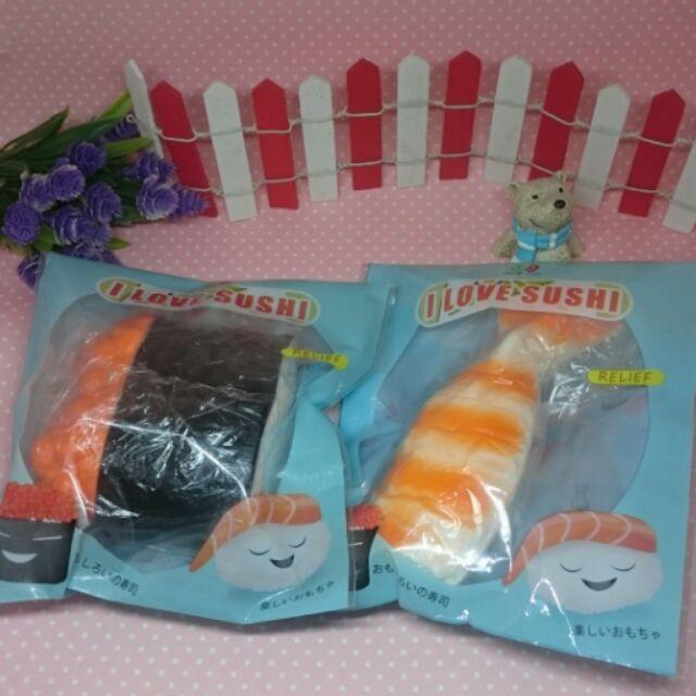 8 秒回弹大squishy 鮮蝦鮭魚卵壽司公仔可捏原包装