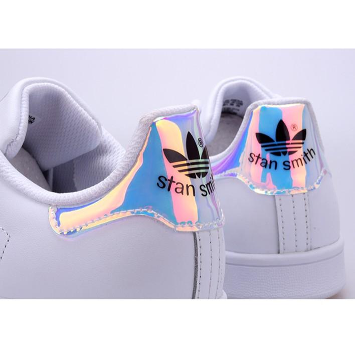 adidas stan smith 史密斯鐳射炫彩鏡面尾小白鞋休閒鞋三葉草板鞋