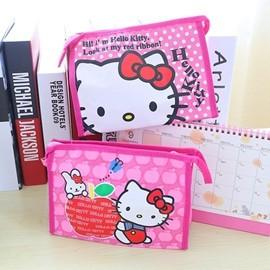 DP 雜貨鋪HELLO KITTY 卡通KT 貓可愛牛津布化妝包洗漱收納包3 款 KT 館