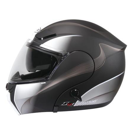 ZEUS ZS3000A GG7 彈性黑白可輕易更換全罩與半罩內藏式遮陽鏡片