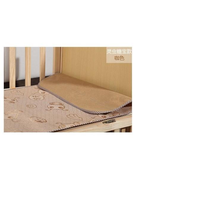 超殺~送枕頭~嬰兒涼蓆寶寶卡通冰絲涼蓆冰絲涼席幼兒園床席一組只要188 元