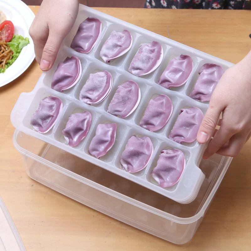 kabe 集08 微波解凍盒分格餃子托盤冰箱保鮮收納盒凍餃子保鮮 零售版媽 活動補習班宣傳