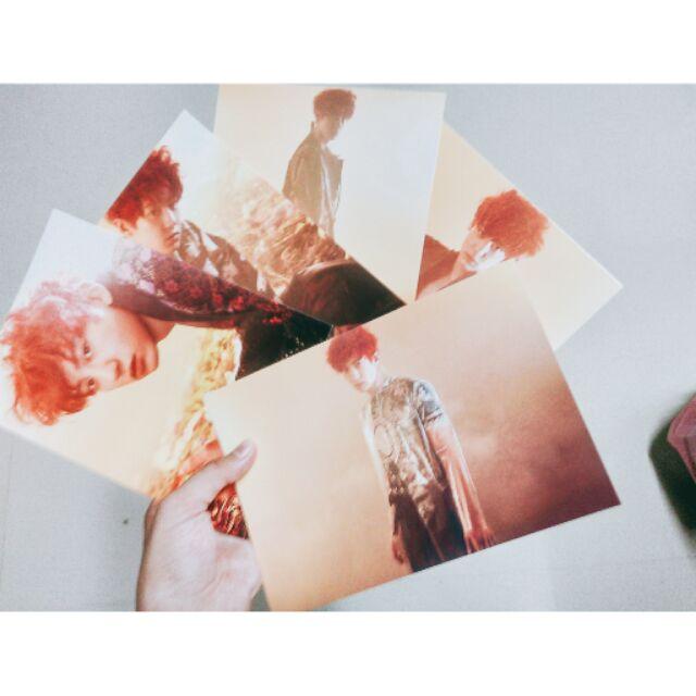 EXO 燦烈chan kai D O 俊勉Wkorea 明信片