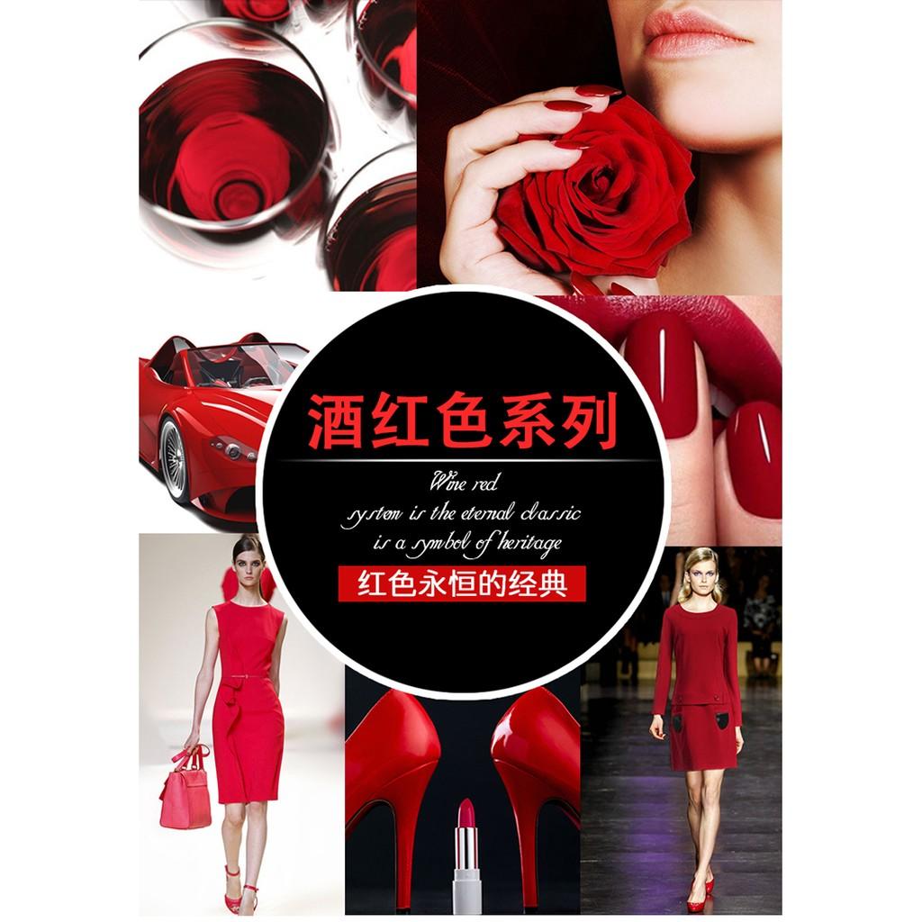 酒紅色系列戈雅蔻丹膠大紅色美甲鑽光療彩繪膠美甲 冬天紅色系列
