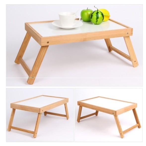 一張390 元楠竹摺疊桌筆電桌和室桌折疊桌野餐露營折疊桌戶外摺疊桌幼童書桌月子床上桌