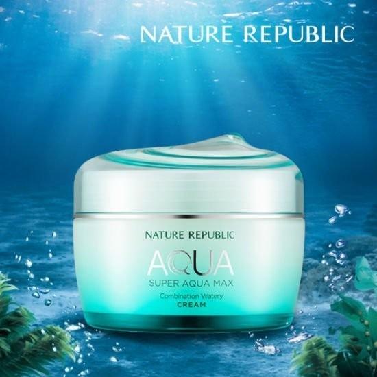 NATURE REPUBLIC 超級水精靈補水面霜保濕鎖水72 小時晚安凍膜
