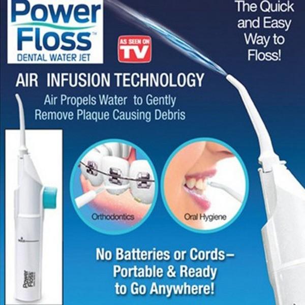 Power Floss 攜帶型沖牙機洗牙器水牙線機牙齒沖洗器沖牙器牙套假牙牙齒矯正清潔