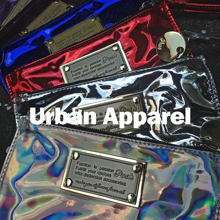 貳本衣著UA 泰國Posh Bag 同款鐳射手拿包晚宴包逛街包手機包SLY008