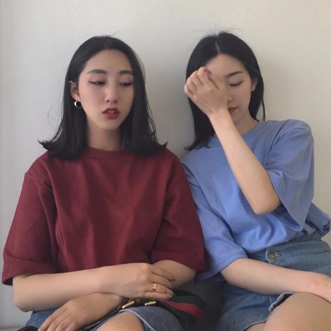 ♣ · ·三色♣韓國chic 純色圓領短袖T 恤