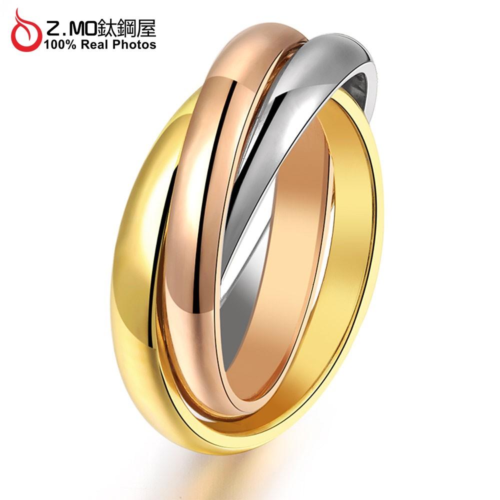 Z MO 鈦鋼屋TBC 423 三圈 鈦鋼戒指優雅獨特 系列 加分單件價