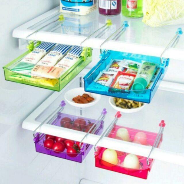 大款冰箱隔層收納架置物架醬料包收納藥妝收納桌下多用收納廚房收納抽屜式有效利用冰箱空間~ ~