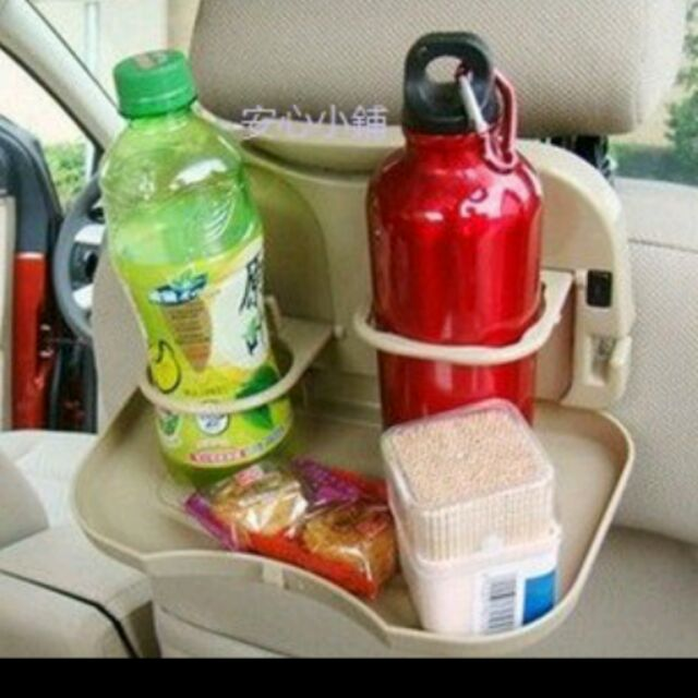 安心小鋪~807 ~車用餐桌椅背餐桌可折疊車用飲料架汽車餐盤車用餐桌車用水杯架飲料架可挑色