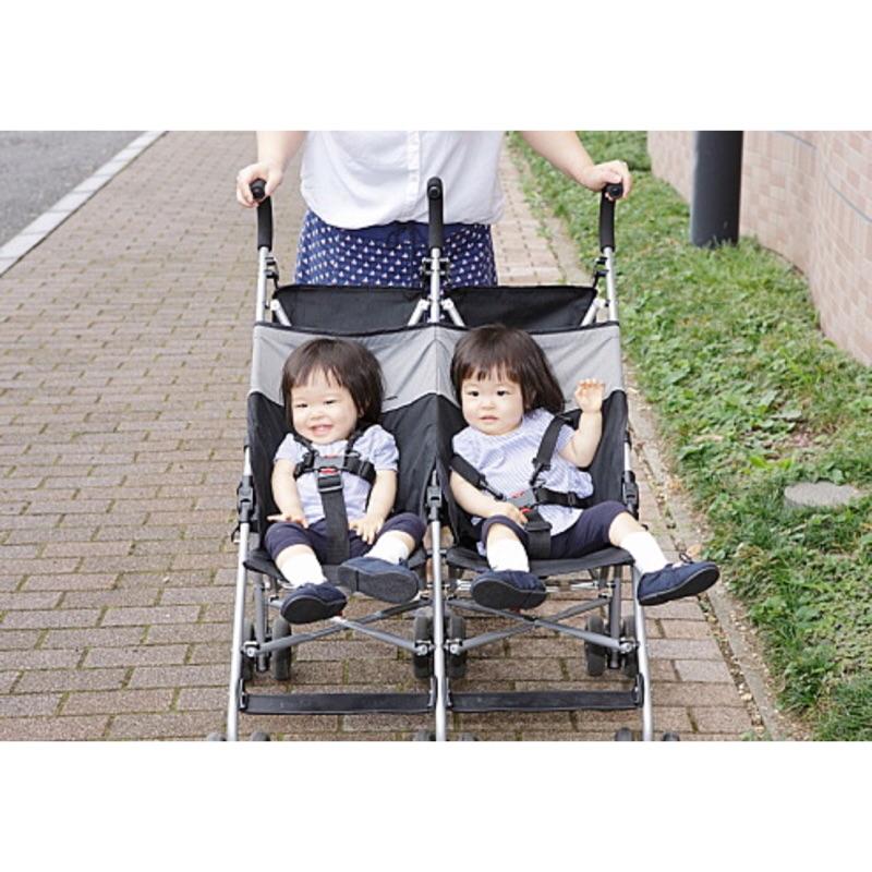 媽媽愛用COOLKIDS 雙人手推車雙胞胎手推車雙人嬰兒車雙胞胎嬰兒車輕便型手推車傘車