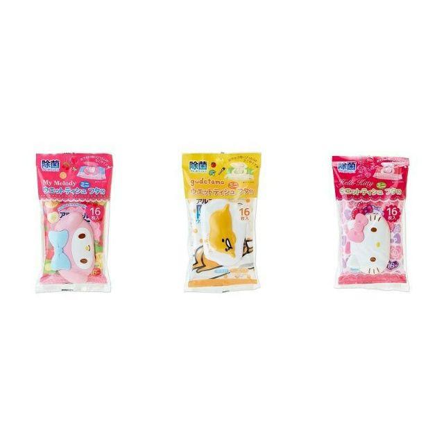 ~東京速購~ 除菌三麗鷗Hello Kitty 凱蒂貓Melody 美樂蒂蛋黃哥濕紙巾濕紙
