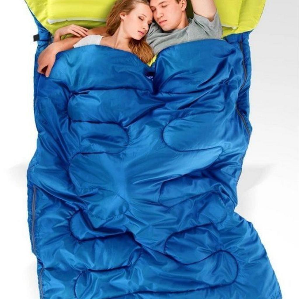 NatureHike NH 雙人睡袋190x150cm 極限4 度可壓縮收納袋體積小露營戶