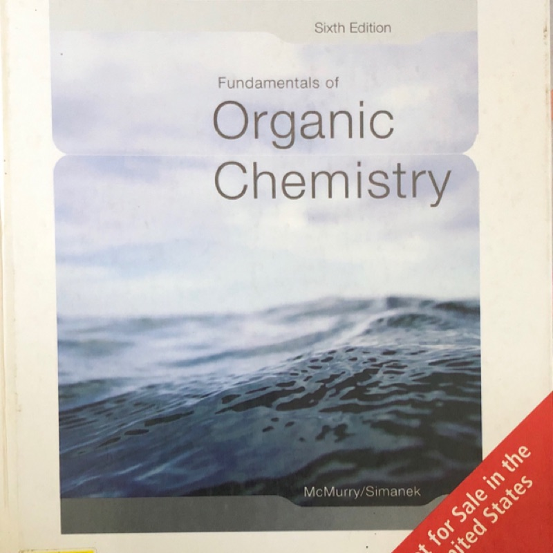 Fundamentals of Organic Chemistry 6th Edition / 有機化學