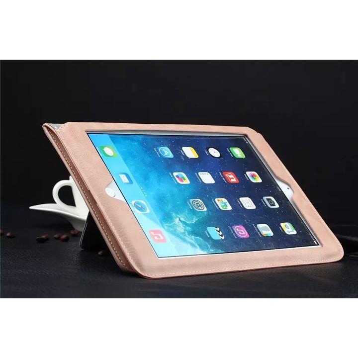 蘋果ipad air2 真皮保護套全包邊ipad3 4 5 6 mini2 超薄防摔休眠殼