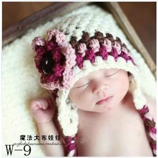 kabe 攝12 百天照可愛 小鹿嬰兒童毛線帽寶寶寫真影樓攝影道具服裝 零售版媽
